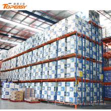 warehouse steel heavy duty storage double deep pallet rack