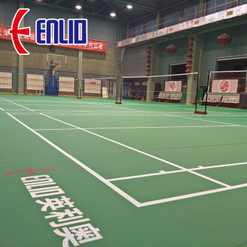 bule color BWF Approved Approved badminton flooring