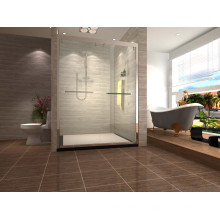 Portes de douche coulissantes suspendues à cadre en acier inoxydable