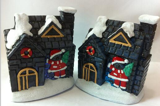 Led Light Resin Christmas Village