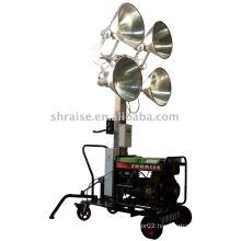 lighting tower (lighting tower, mobile lighting tower, portable lighting tower)