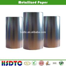 Papel metálico a vácuo de alto brilho de 60gsm para impressão offset