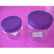 4 oz y 8 oz claro pet jarra con tapa de tornillo