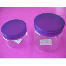 4oz and 8oz Clear Pet Jar with Screw Cap
