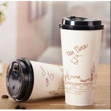 taza de papel café