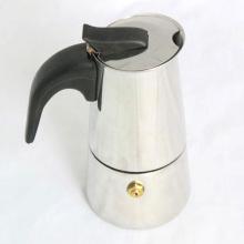 Belle bouilloire à café en acier inoxydable en bakélite