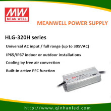 IP65 320W LED Power Driver de fornecimento (Meanwell HLG - 320H)