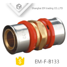 EM-F-B133 multilayer pipe press fitting first grade brass barb hose fitting