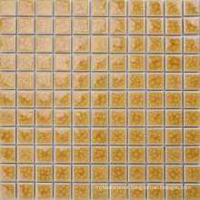 Home Application Wall and Floor Ice Crack Yellow Mosaic Tiles