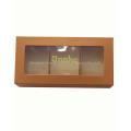 Janela de PVC Caixa de papel de empacotamento para o bolo de jóias com chocolate