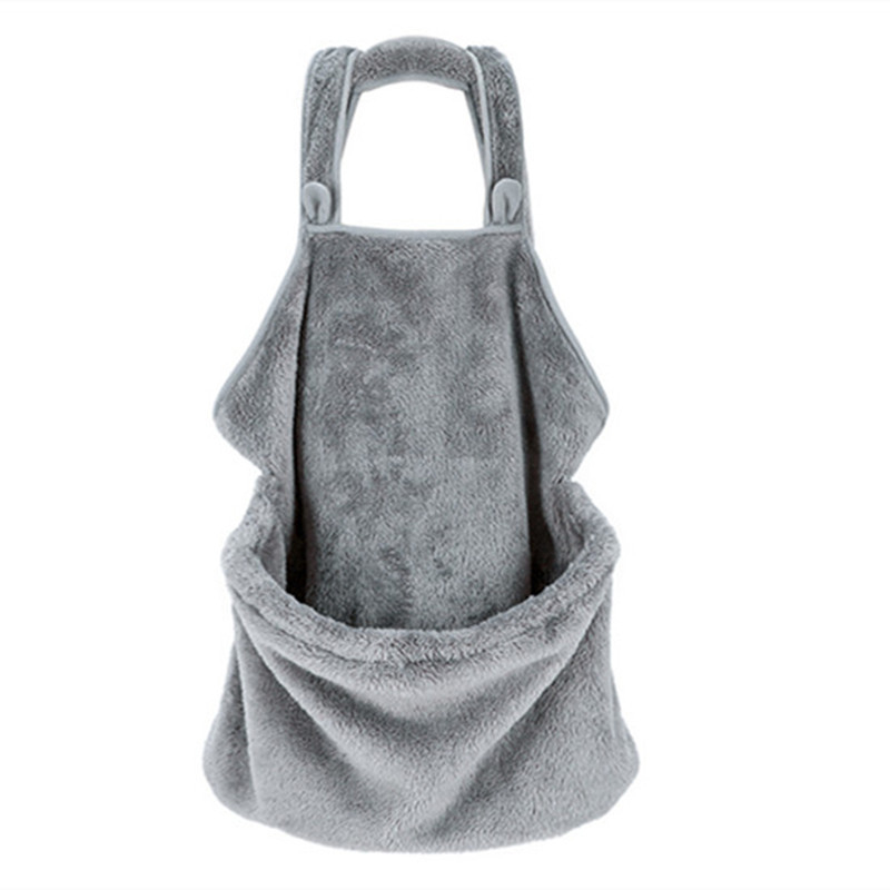 Grey apron and cat bag