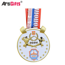 Custom Cheap Bodybuilding Sports Golden Awards Medal Trophy