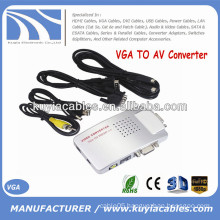 AV Converter Box Signal TV S-Video VGA TO AV Adapter Supports NTSC PAL system