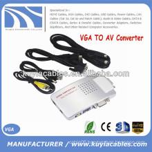 AV Converter Box Signal TV S-Video VGA TO AV Adapter Supports NTSC PAL system