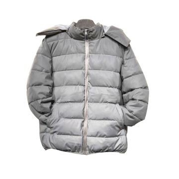Rainbow fleece puffer winter jacket