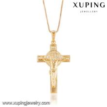 32744 Xuping nuevo diseño dorado cruz colgante