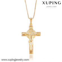 32744 Xuping new designed gold plated cross pendant