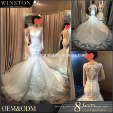 China factory OEM wedding dress with blue sash white velvet wedding dresses
