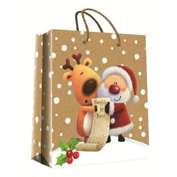 CHRISTMAS SERIES KRAFT GIFTBAG41-0