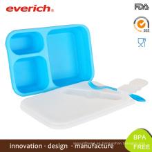 Venta al por mayor nuevo diseño BPA libre de alimentos plásticos caja de almuerzo redondo