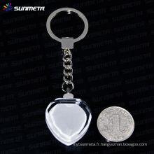 Sunmeta sublimation porte-clés en cristal en gros --- fabricant