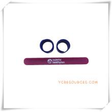 Einfachen Stil Silikon Slap Handgelenk Band für Werbegeschenke (OS14026)
