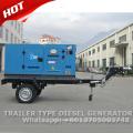 Gerador silencioso diesel móvel de 30kva