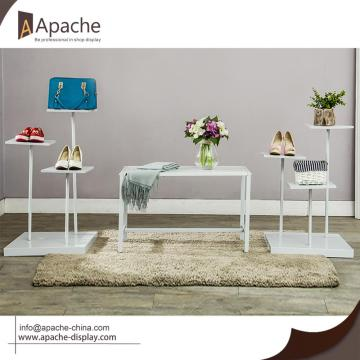 Metal Shoes Bag Display Stand For Clothing Shop
