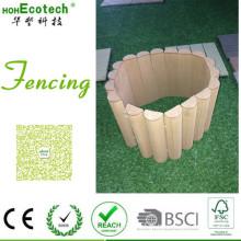 Valla de césped personalizada Garden Villa Patio trasero WPC Wood Fencing