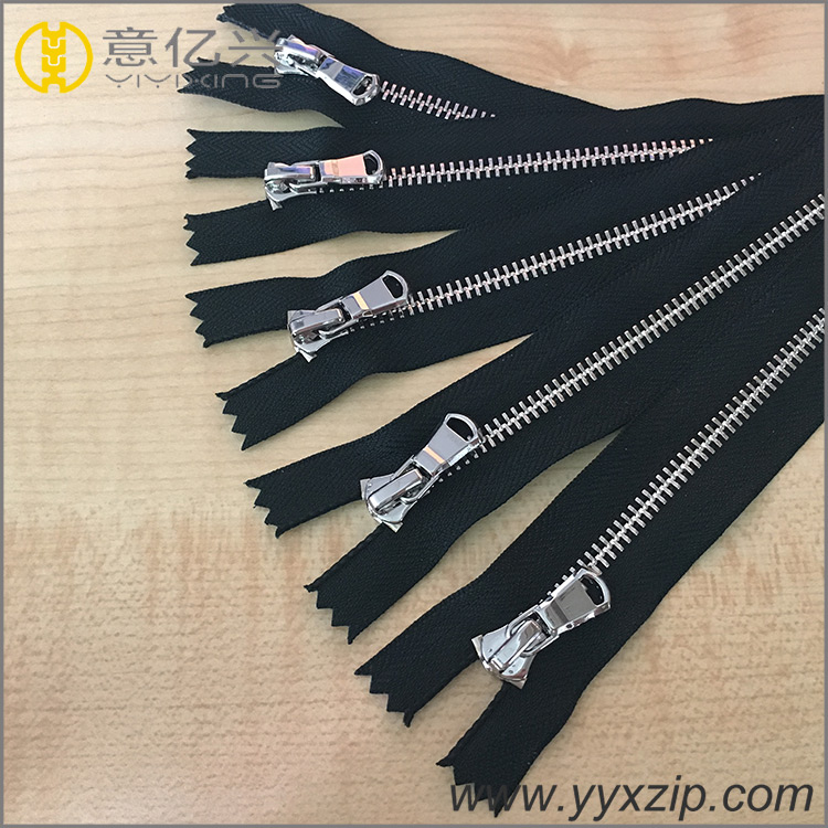 Metal Silver Teeth Zipper