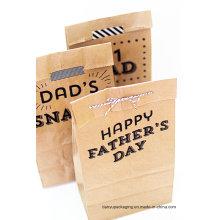 Sac de conditionnement en papier Snack de qualité alimentaire, sac en papier de restauration rapide