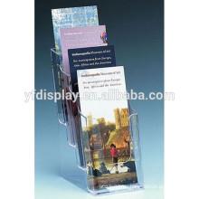 Prospekthalter mit 4 Ebenen, A4 Prospekthalter aus Plexiglas, klarer Prospekthalter aus Acryl