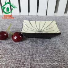 2015 Cuadrado personalizado barata a granel islámica platos de cena de cerámica