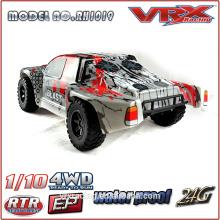 caminhão de curso curto sem escova escala 1/10 com rádio de 2,4 GHz, carro do brinquedo do RC elétrico 4WD