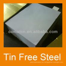 EN10202 estándar impreso hojalata de acero libre de metal y la parte superior de la botella pueden producción