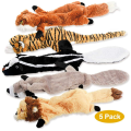 5er Pack Zwei Squeaky Cute Animals Hundespielzeug