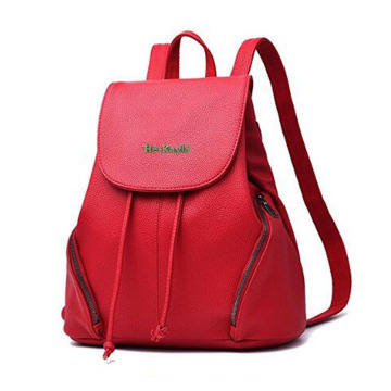 Women Fashion Leather Daypack Schoolbag for Girls