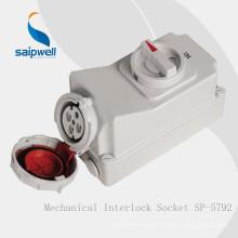 Производитель Saipwell IP67 4P 3H 63A Промышленное гнездо для рефрижераторных контейнеров
