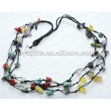 3Wire Knotted Assorted Chip Colar