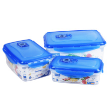 3 PCS Food Grade Refrigerator Storage Box Plastic Sealed