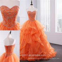 2018 quinceanera vestidos nouvelle robe de bal avec volants Sweetheart Organza Beading six 16 robes de soirée robes de quinceanera ED02