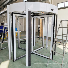 16 years factory outlet 4-wing automatic glass revolving door for hotel