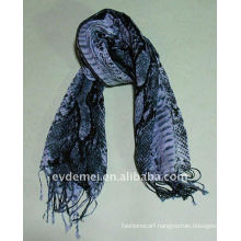 Double color snake skin print scarf