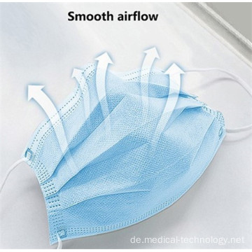 3Ply Face Mask Blue Farbe