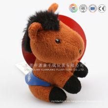 """Juguete colorido del caballo de la felpa / juguete del caballo de la felpa 8 """"Sentado / juguete animal modificado para requisitos particulares rellenado suave del caballo colorido para los niños"""
