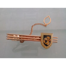 Custom Gold Plated Tie Clip with Badge (GZHY-LDJ-006)