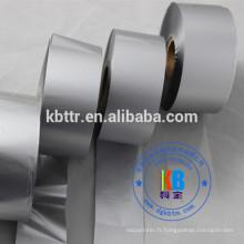 Type de ruban pour imprimante Ruban de code-barres thermique en résine métallisée argentée