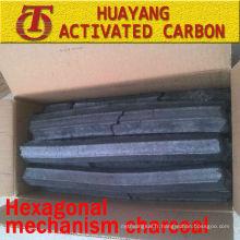 (Temps de combustion de 8500kcal / 3.5-5hs) Charbon hexagonal de mécanisme pour le charbon de bois de charbon de bois / sciure de bois