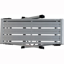 Escalera de plataforma de trabajo grande de aluminio de dos pasos plegables