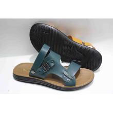 Sandale de plage pour hommes design neuf avec dessus en cuir (SNB-13-002)
